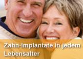 Zahn-Implantate in jedem Lebensalter. Für mehr Lebensqualität - das Gefühl fester Zähne und wieder kraftvoll Zubeißen können! Alles über Implantate und Knochenaufbau von Ihrem zertifizierten Implantologen in Bad Griesbach.